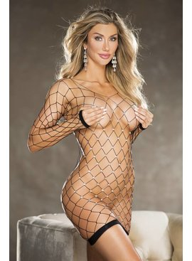 Shirley Of Hollywood Sequin Fishnet Chemise