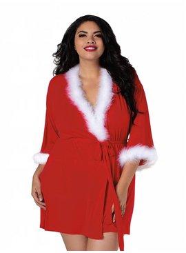Sultry Santa Robe - Plus Size
