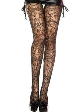 Music Legs Sexy Spider Web Stockings
