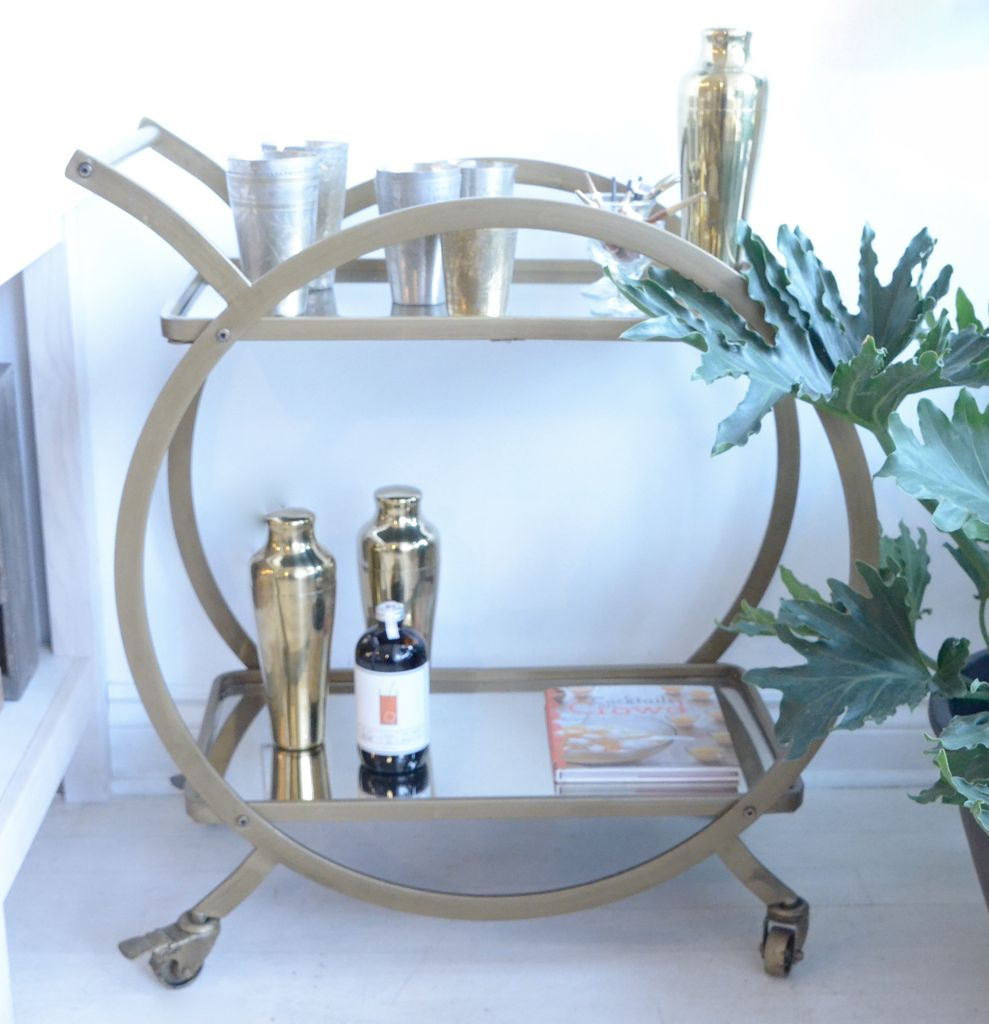 Everyday Gold Brass Bar Cart