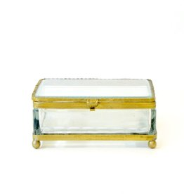 Everyday Antique square filigree glass box.