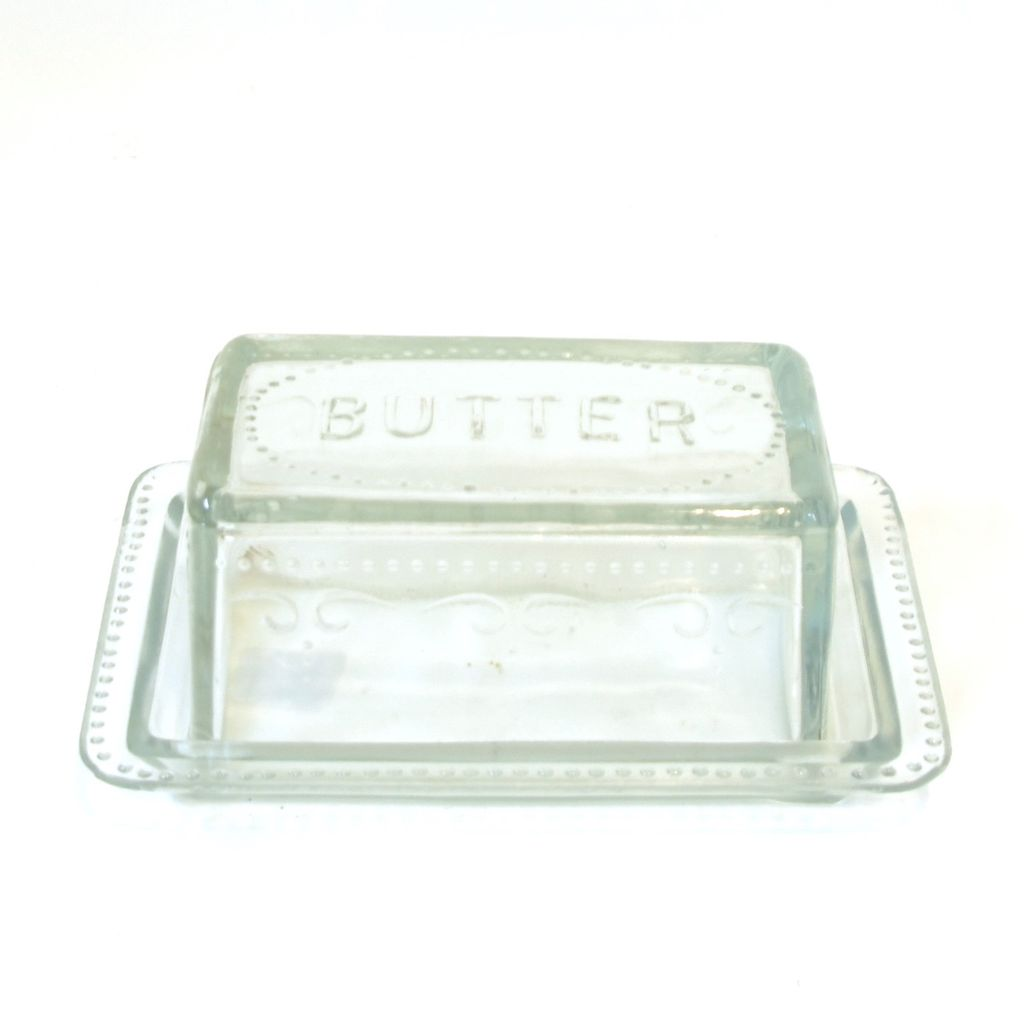 Everyday Retro Glass Butter Dish