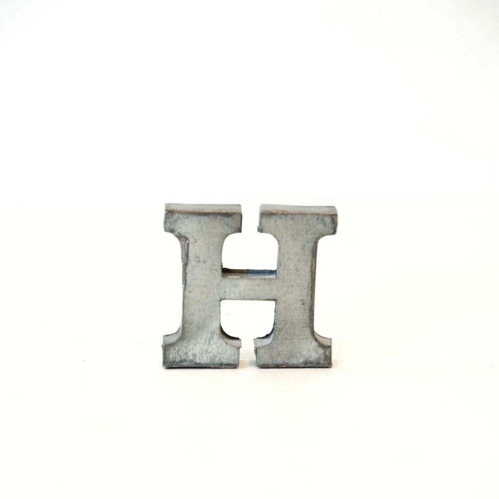Everyday Metal Alphabet Letter