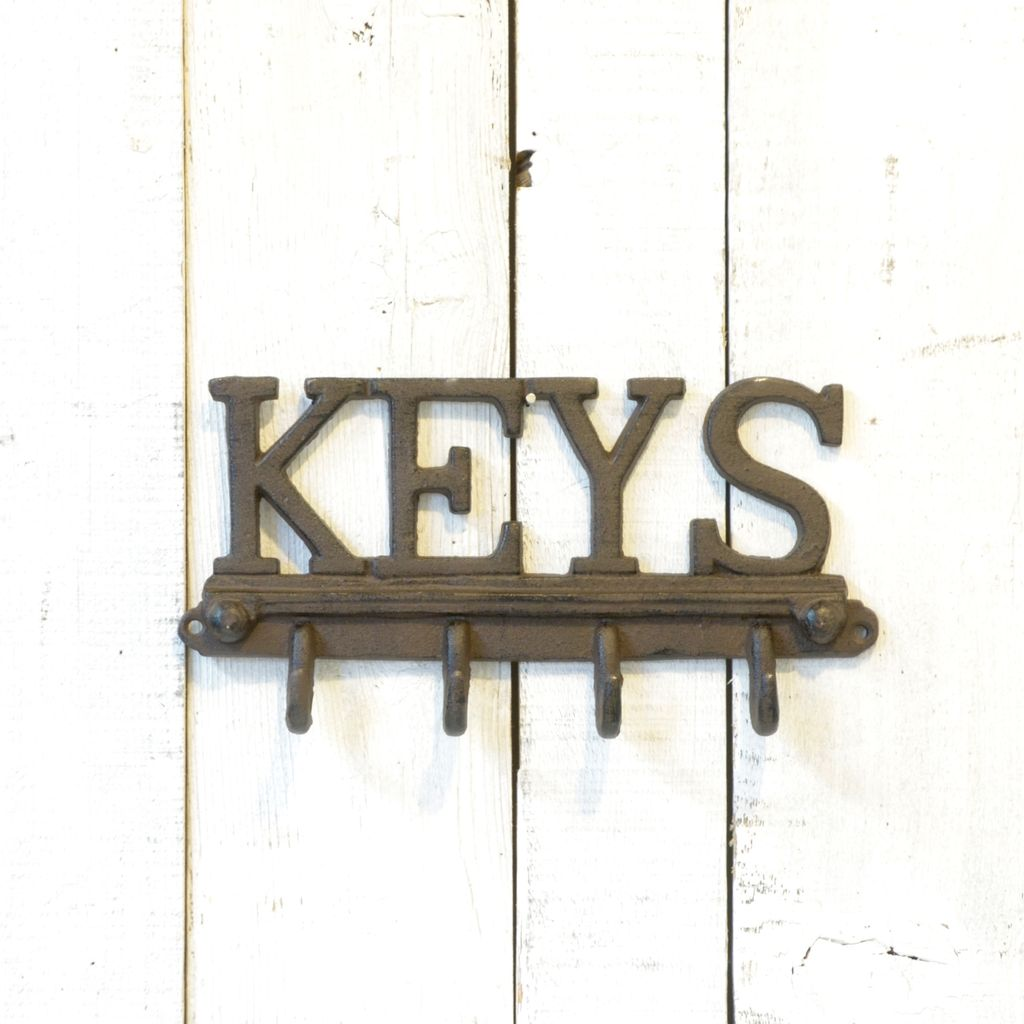 "Everyday ""KEYS"" wall hook with 4 hooks."