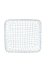 Everyday Metal wire basket with grey patina finish.