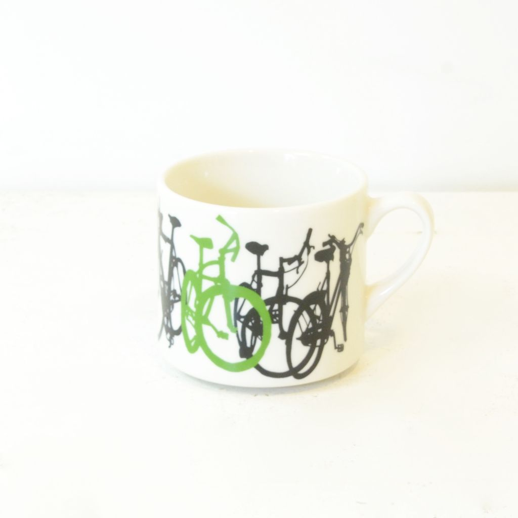 Everyday Ceramic bicycle mug.