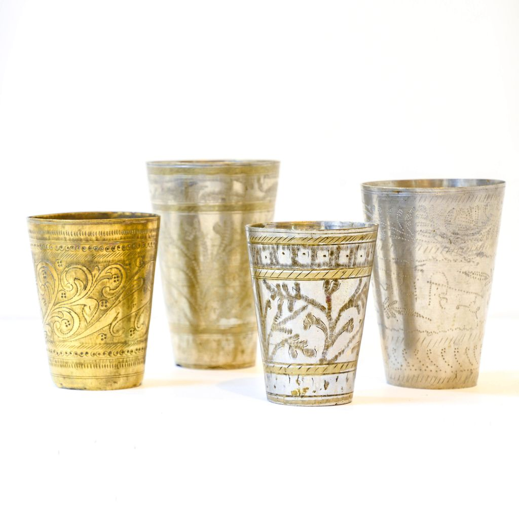 Everyday Decorative Brass Cups