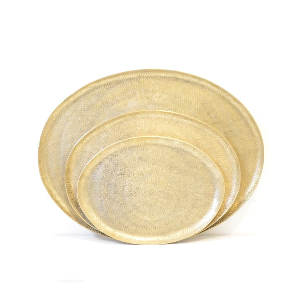 Everyday Aureus Oval Tray, Small.