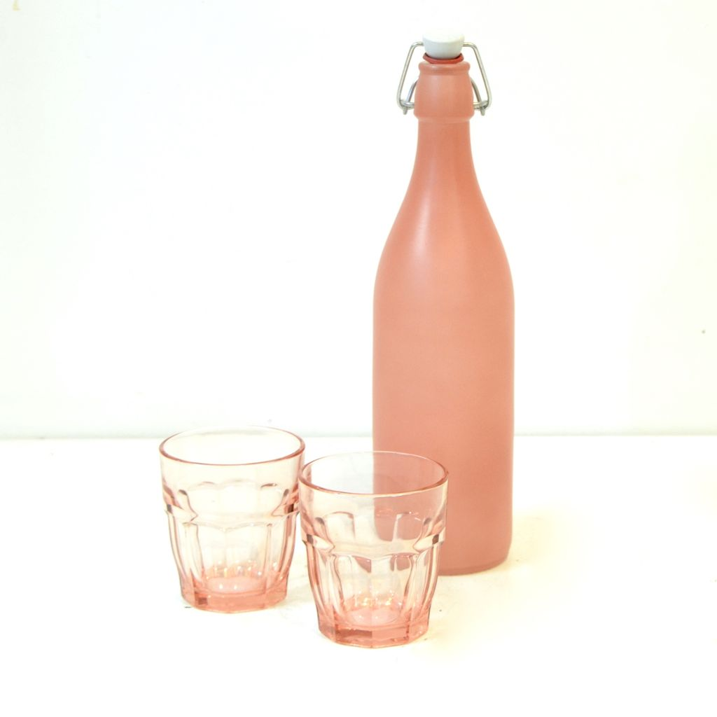 Everyday Tall & slender clear glass bottle with stopper