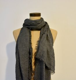 Everyday Lightweight Frayed Navy Scarf