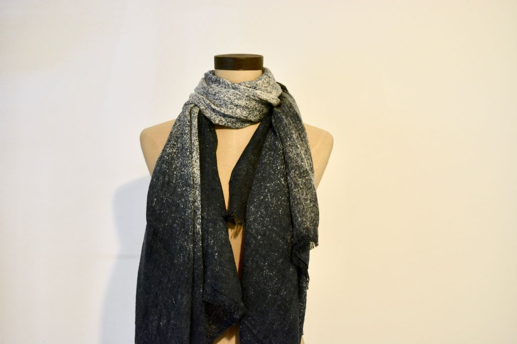 Everyday Speckled Navy Scarf