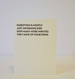 Everyday Parenting Minutes Card