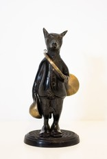 Everyday Fox Statue with Horn