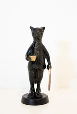 Everyday Cat Statue with Cup