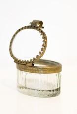 Everyday Petite Oval Glass Filagree Box
