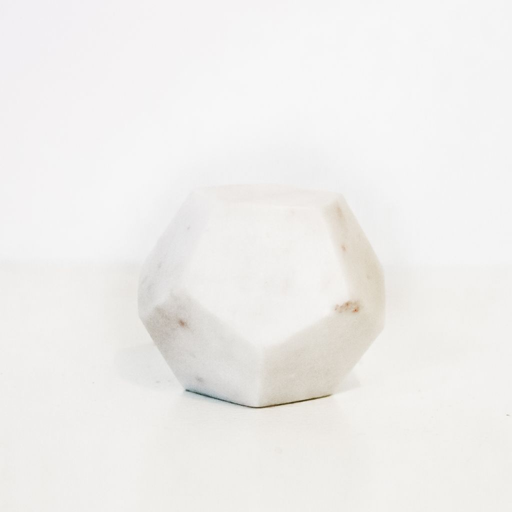 Everyday White Soapstone - Dodecahedron