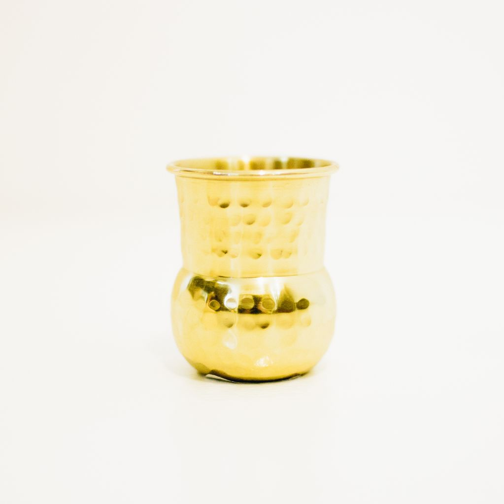 Everyday Hammered Brass Shot Glass