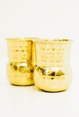Everyday Hammered Brass Shot Glass