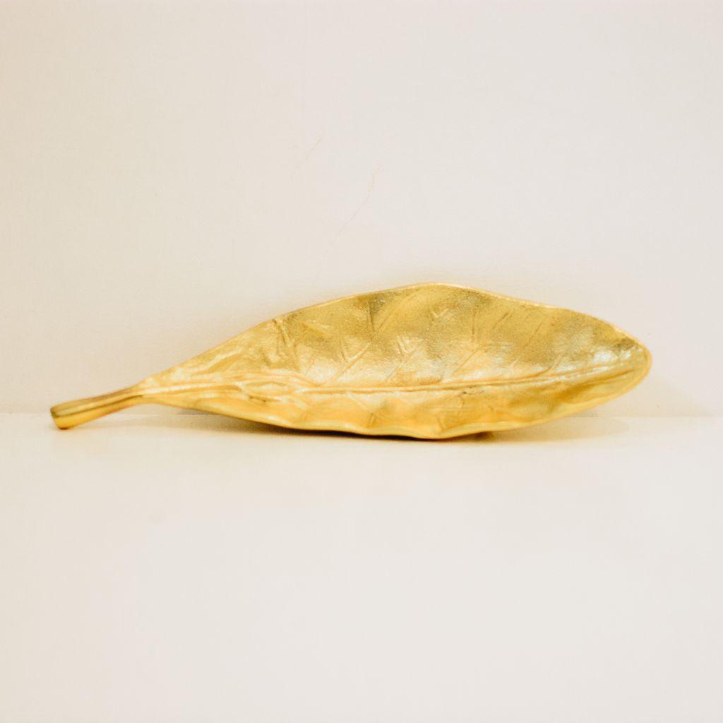 Everyday Gold Magnolia Leaf Dish