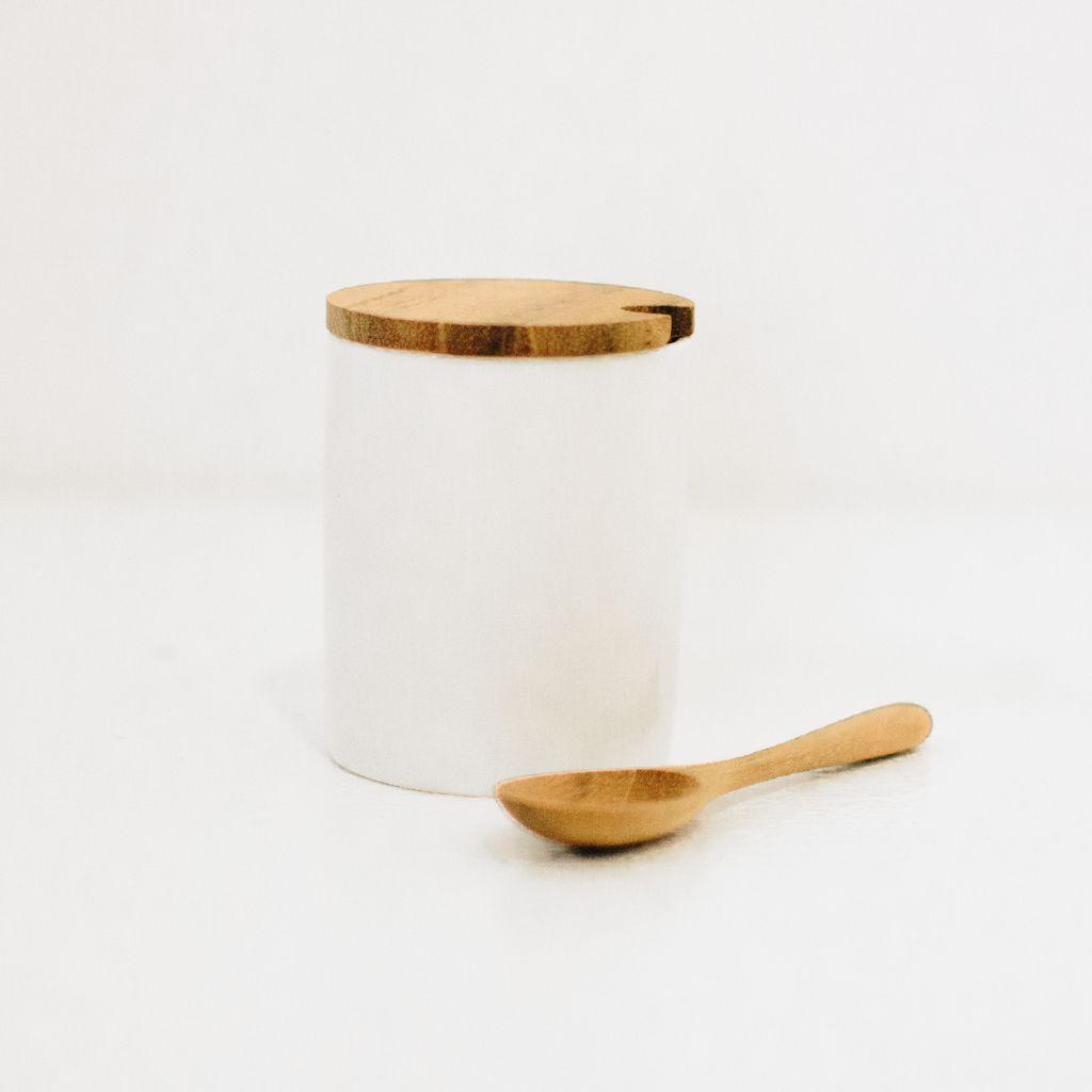 Everyday Mini Porcelain Celar With Teak Lid