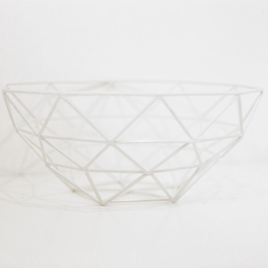 Everyday White Gem Basket