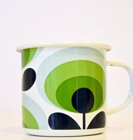 Everyday Orla Kiely Oval 70's Enamel Mug