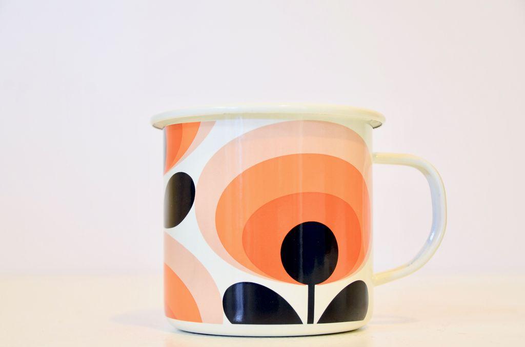 Everyday Orla Kiely Oval 70's Enamel Mug
