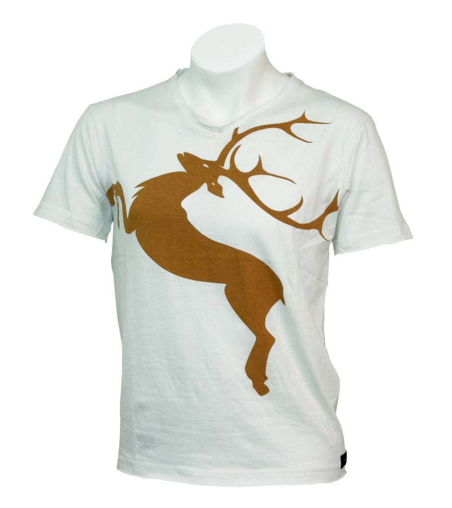 T Shirt Deer Tobacco L Wiesnkoenig USA
