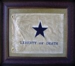 Texas Art - Liberty or Death Flag Medium