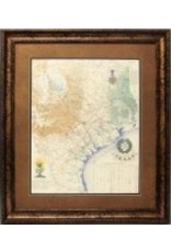 Texas Art - Revolutionary Map 36x42