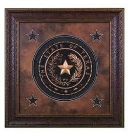 Texas Art - Texas Seal w/ Star 25x25