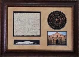 Texas Art - Travis letter w/ seal