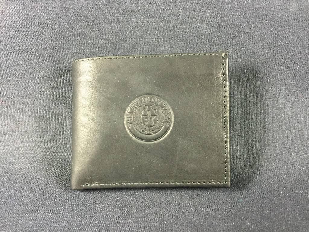 Bi-Fold Wallet - BLK - Texas State Seal