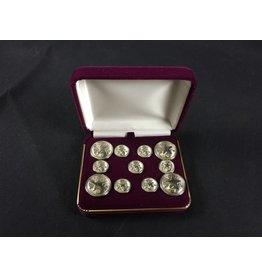 Blazer Button Set - Nickel - 11 piece set - Texas Star