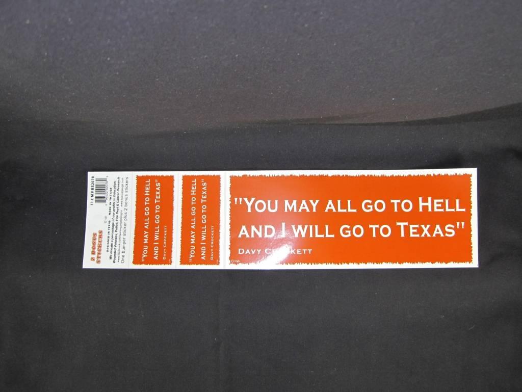 Bumper Stickers - Davy Orange w/ bonus