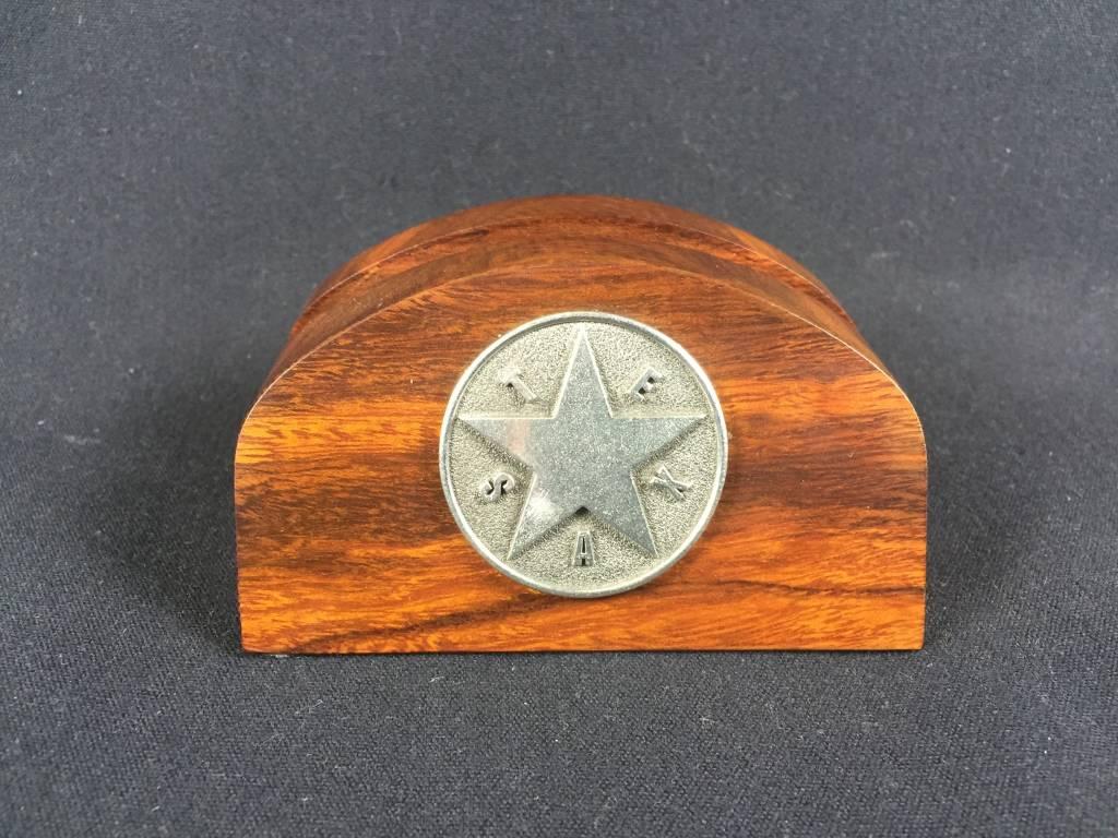 Business Card Holder - Pewter Texas Star - Lone Star Legacies