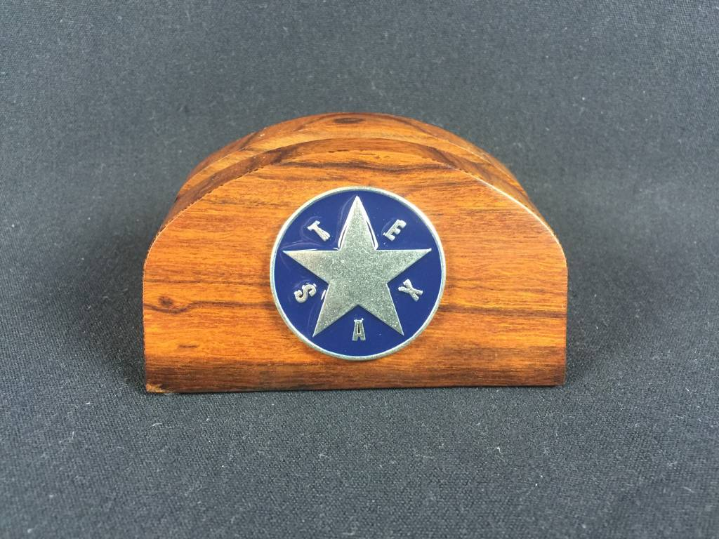 Business Card Holder - Pewter Texas Star EB