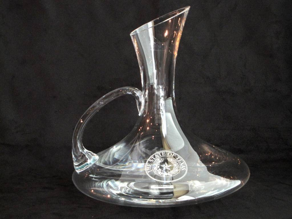 Texas Decanter - Carafe - Wide Bottom - Texas State Seal