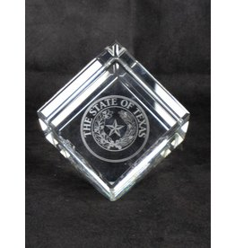 """Crystal Cube - 5"""" - Texas State Seal"""