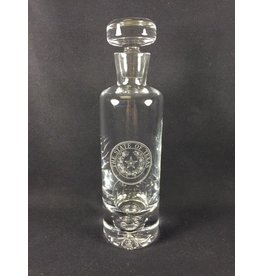 Texas Decanter w/ Texas State Seal - Cylinder 11""