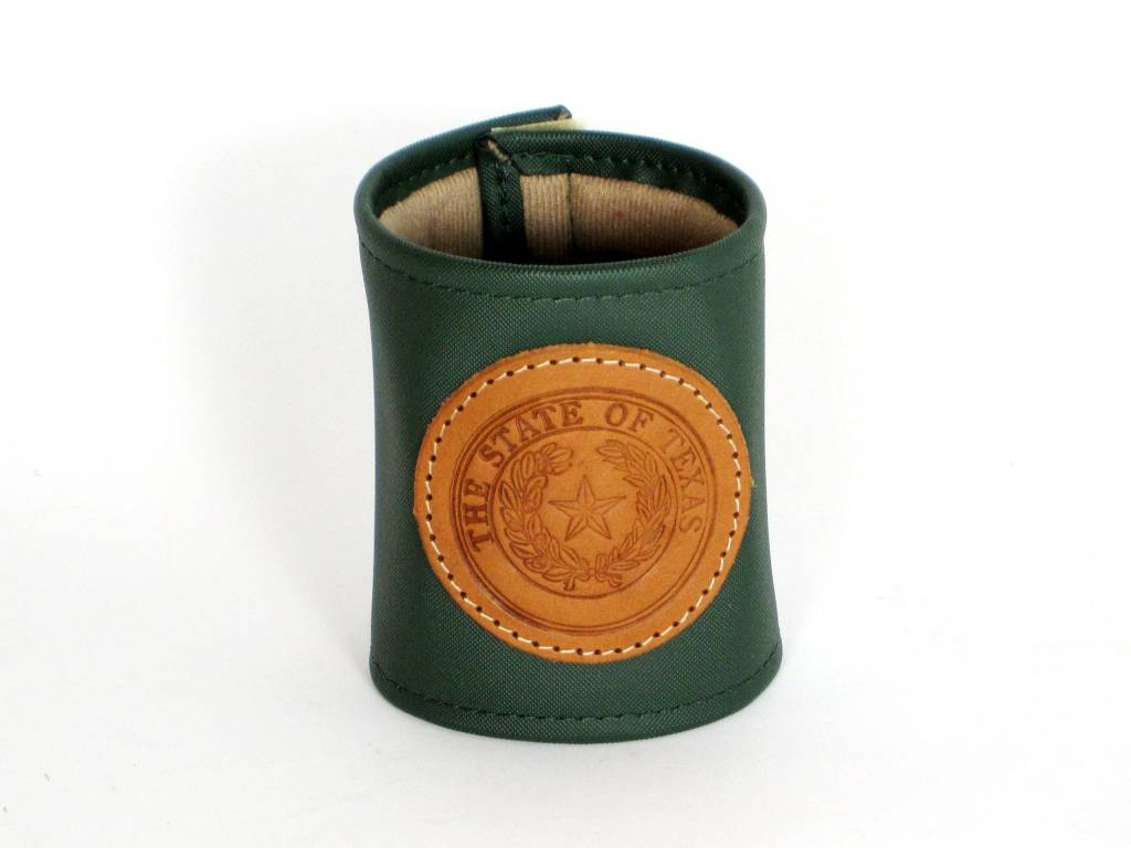 Drink Koozie - Green - Texas State Seal