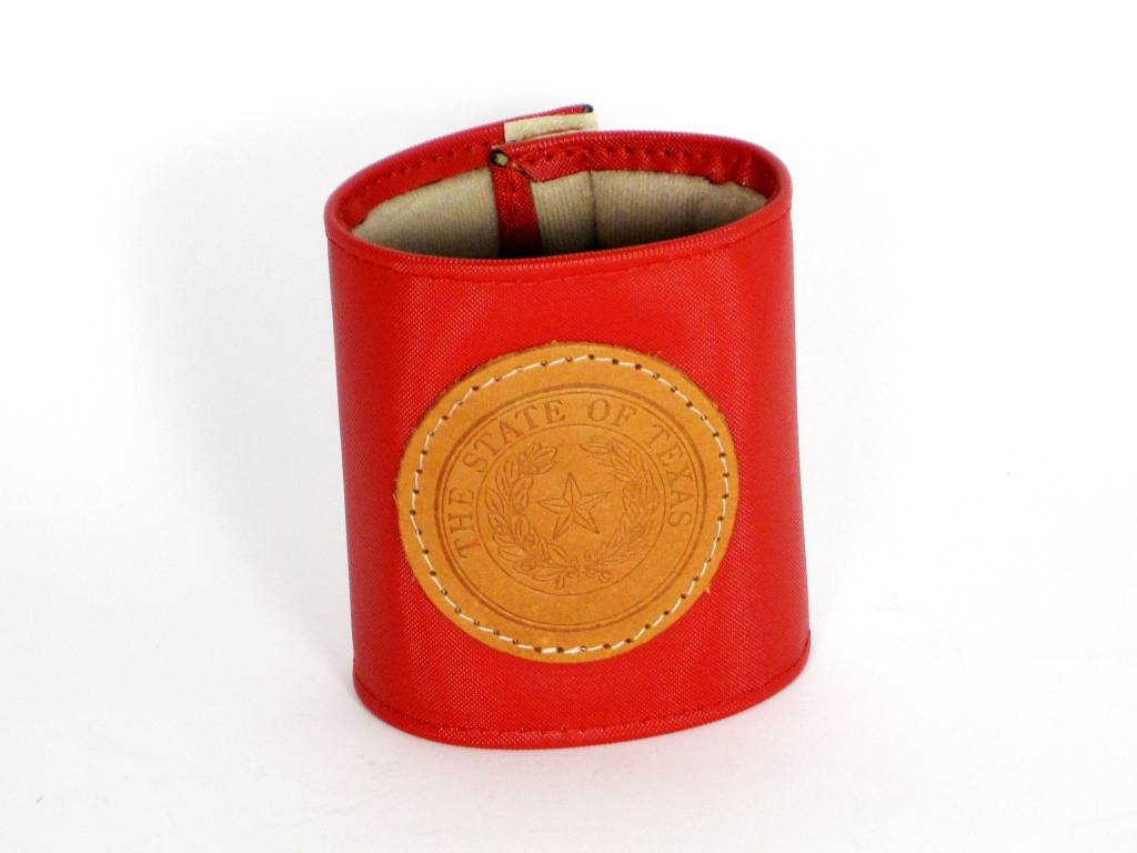 Drink Koozie - Red - Texas State Seal
