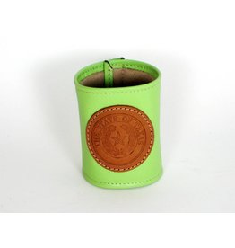 Drink Koozie - Lime Green - Texas State Seal