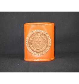 Drink Koozie - Orange - Texas State Seal