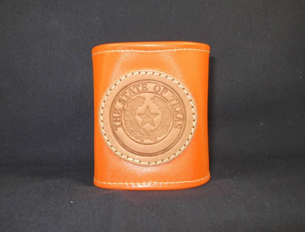 Drink Koozie - Orange - Texas State Seal