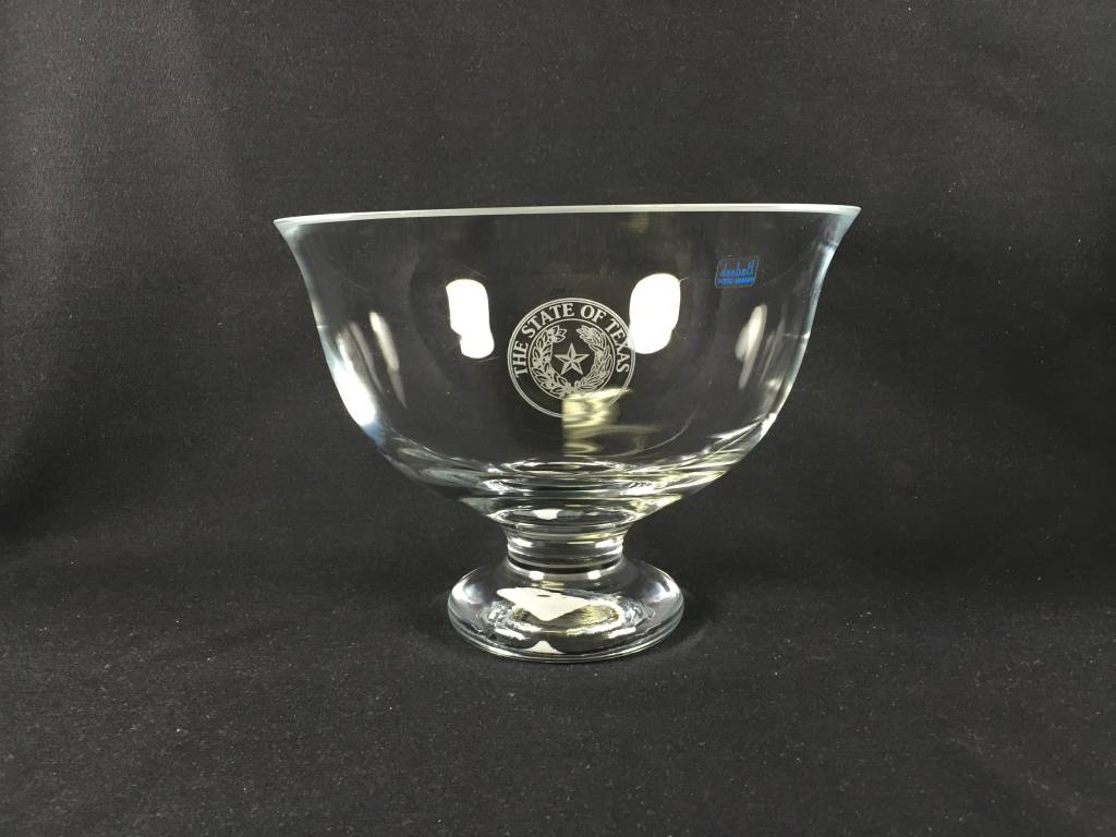 "Bowl - 8.5"" - Monica - Footed - Texas State seal"