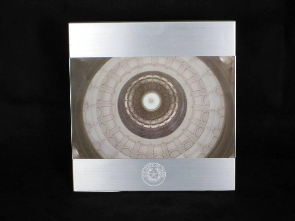 Frame - 4 x 6 Brushed Metal - Texas State Seal - Lone Star Legacies