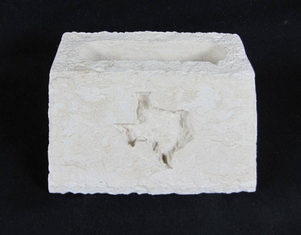 Business Card Holder - Texas Carved - Limestone