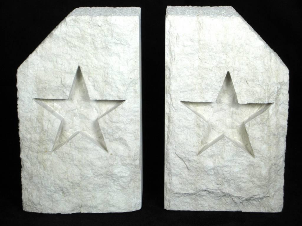 Bookends - Limestone - Star