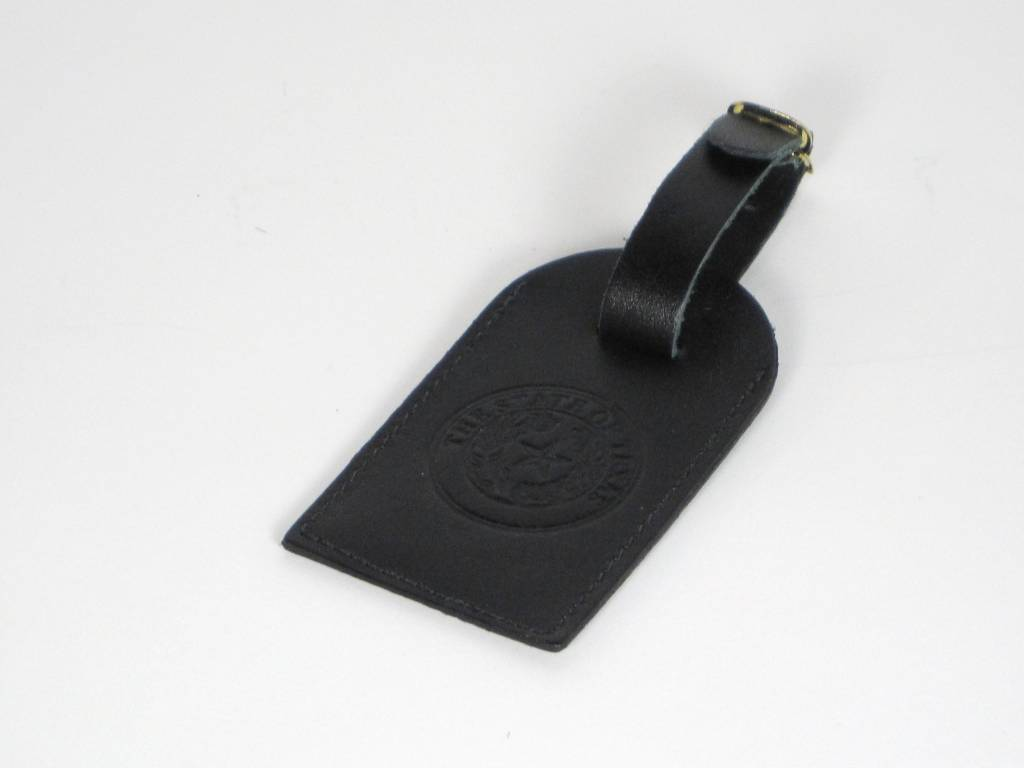 Luggage Tag - Black Calf - Texas State Seal